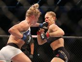 HOLLY Holm sent Ronda Rousey down - and then did all she could to pick her up.