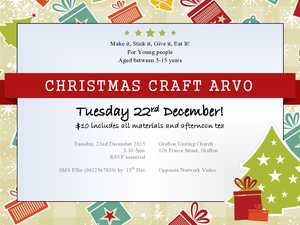 Make It! Stick It! Give It! Eat It! Enjoy a fun afternoon to create beautiful Christmas Craft to eat or give away!