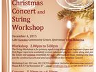 "Sunshine Coast Youth Orchestra will be presenting a ""Christmas Concert and String Workshop"" at Lake Kawana Community Centre on Friday December 4, 2015"