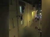 FOOTAGE of a pregnant woman dangling from a window of the Bataclan has shocked people worldwide - including her boyfriend, who was unaware she was pregnant.
