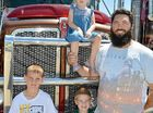 IT WAS a real family affair for truckie Andrew Liddicoat when he participated in the Townsville Convoy for Kids.