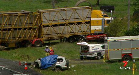 The horrific triple fatal crash at Brookstead south of Toowoomba.