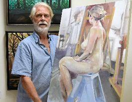 An award winning artist is on display