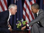 US President Barack Obama has been caught having a cheeky dig at New Zealand during a recorded conversation with the Australian Prime Minister.