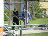 AN 86-year-old man has been shot during a break and enter at his home in Ipswich.