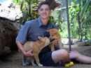 Cooberrie Park Wildlife Sanctuary on the Capricorn Coast has two new additions.   Pure bred dingo pups Dino and Diva are settling in to their new home.    Photos CHRIS ISON.