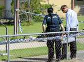 YESTERDAY Ron Jones was shot in the leg after two burglars ransacked and stole from his Bundamba home in the early morning.