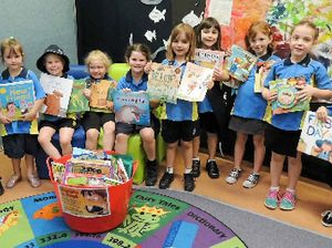 NOVEL APPROACH: Gympie Gumnuts handing their books over to the Salvation Army Christmas Cheer Appeal at Gympie Library are (from left) Ebony Krutsinger, Trinity-Belle Narayan, Tamara Jaenke, Tahni Roebuck, Tegan Brigg and Sofia Mirto. Lyllyth Guinea, Roisin Maher, Angela Jones and Ella Young Photo Contributed