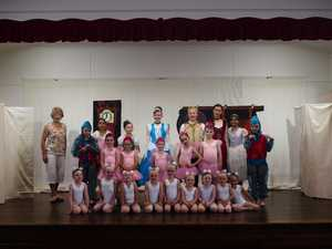 Students of the Pam Bellingham School of Dance rehearsing for 'Cinderella', at Woodburn Hall.