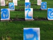 ANZAC graves in London have been defaced with spray paint.