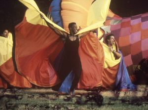 Rainbow capes by South Australian artist Evelyn Roth will be featured in this year's Tropical Fruits parade.