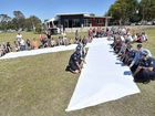 HUNDREDS of people on the Fraser Coast have taken the pledge to stand against domestic violence during White Ribbon Day.