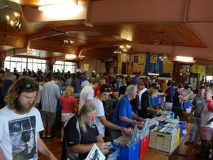 An image of Mark Grounds' first record fair at Buderim in 2013.
