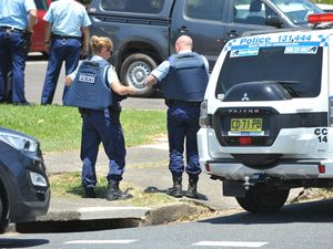 Nimblin Place was in lockdown shortly after 1pm as police searched for a man believed to be armed with a firearm.