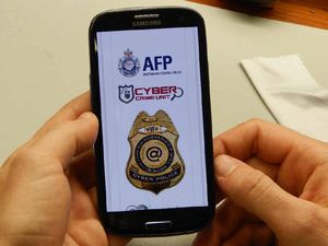 MALICIOUS SOFTWARE: Images of a phone infected with ransomware. Phone repair technician Gary Finlay said at least 12 people in the last two weeks have been hit in Mackay.