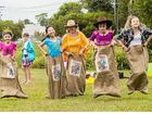 COOROY'S Santa Sack Races last year even had Cr Sandy Bolton hopping along as part of a newer attraction to Christmas in Cooroy.