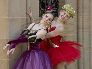 "LAST WISH: ( From left ) Tabitha Buttsworth and Ashley Joppich will perform in their last "" A Christmas Wish "" production at the Empire Theatre. Monday, Nov 24, 2014 . Photo Nev Madsen / The Chronicle"