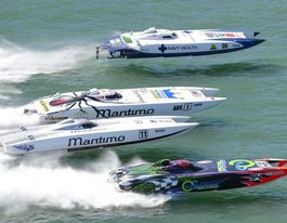 Monster superboats speed into the Bay for championships