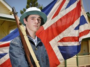 The Laidley Pioneer Village will be holding Call to Arms reanactment on November 29. Pictured is Dennison Pick, 16. Photo Inga Williams / The Queensland Times