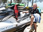 Dramatic scenes as pair rescued by jetski