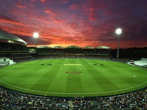 Ball on top on first day of historic day-night Test