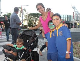 Families hit the streets to celebrate city facelift