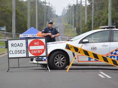 Police have blocked Cummins Rd Branyan to continue investigations after a man died at a house from stab wounds Friday night. Photo Craig Warhurst / NewsMail