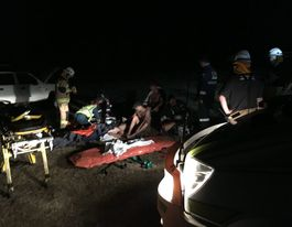 Six men injured in Quinalow rollover, two airlifted
