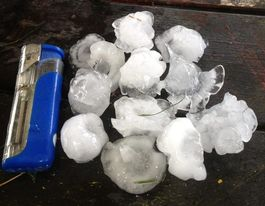 'Very dangerous' storms bring giant hailstones