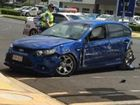 A MAN who crashed his car into Kingaroy's Supa IGA has been charged with dangerous operation of a vehicle while allegedly affected by intoxicating substances.