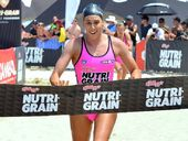 NOOSA Heads' Kirsty Higgison has made the perfect start to her debut Nutri-Grain Series by claiming yesterday's opening round at Coolum.