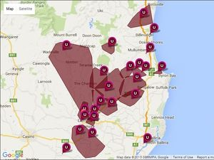 A number of areas around Lismore are still without power due to large storms this afternoon.