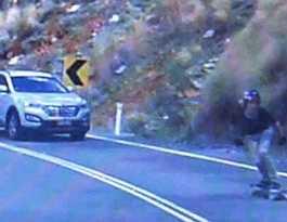 VIDEO: Reader films kids skateboarding down Mt Morgan range