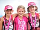 Young athletes take part in the junior divisions of Triathlon Pink event at Kawana.
