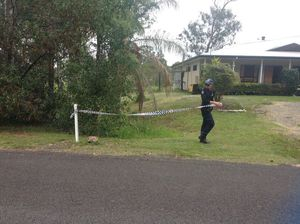 The crime scene on Snapper St where a 35-year-old man was left with a gunshot wound.