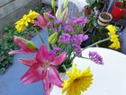 The flowers given to a Toowoomba woman by a young woman.