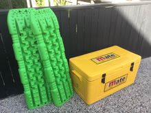 4x4 set of Tred recovery tracks and Evercool 88 litre mate esky