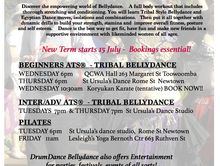Tribal Bellydance and Drumming classes