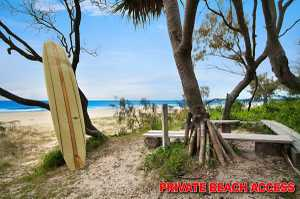 If you are looking for beachfront, seclusion and only 15 minutes to Gold Coast Airport then look no further than this home tucked away in an exclusive enclave. Adjoining a beachfront reserve, you only have to stroll about 100 metres along a bush track to reach the pristine sands of ...