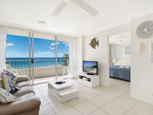 Secure this rarely available high floor North East sub-penthouse in the heart of Rainbow Bay