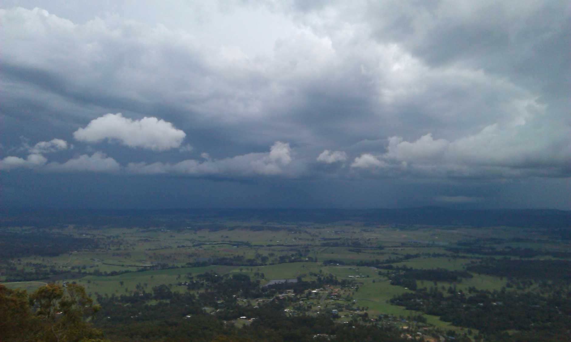 Watching a storm from Mt Tamborine  - User Contributed