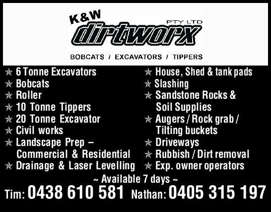 Bobcats / Excavators / Tippers  6 Tonne Excavators   Tracked Bobcat   Skid Ste...