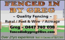 FENCED IN BY GREG