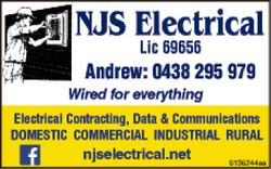 NJS Electrical   Andrew 0438 295 979   Wired for everything   Domestic commercial ind...