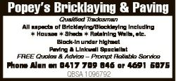 Qualified Tradesman All aspects of Bricklaying/Blocklaying including Houses Sheds Retaining W...