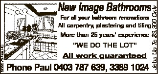 For all your bathroom renovations
