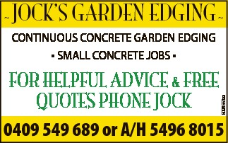 FOR HELPFUL ADVICE & FREE QUOTES   CONTINUOUS CONCRETE GARDEN EDGING * SMALL CONCRE...