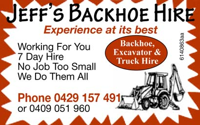 Jeff's Backhoe Hire