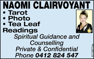 NAOMI CLAIRVOYANT        Tarot  Photo   Tea Leaf   &nb...