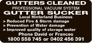 PROFESSIONAL VACUUM SYSTEM GUTTER SUCKER  Local Hinterland Business  Reduced Fire &...